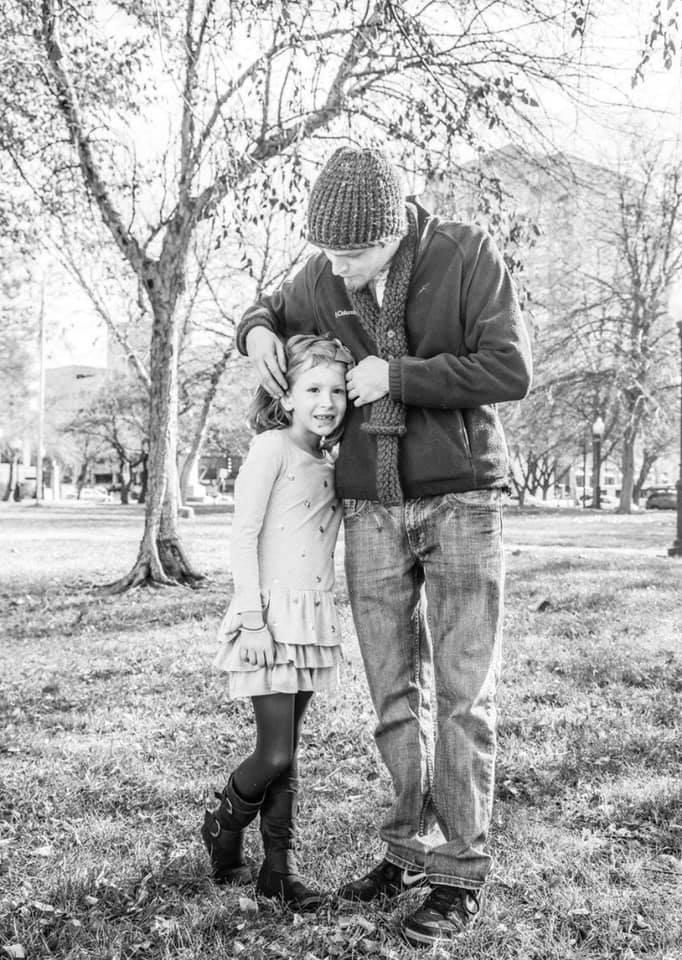 Allan with his daughter, Cadi